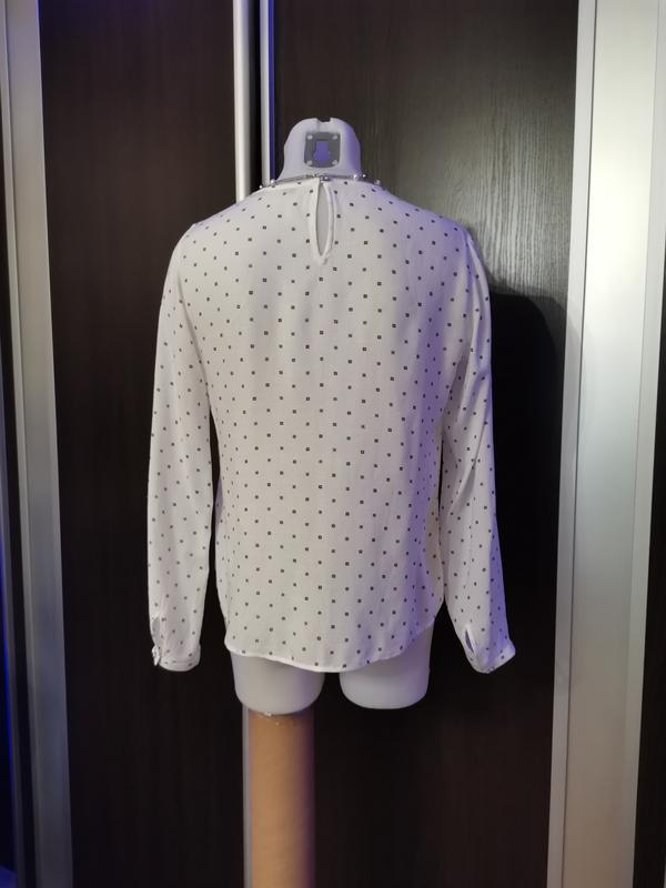 Белая блуза в стиле isabel marant с нежным принтом xs-s - Фото 6