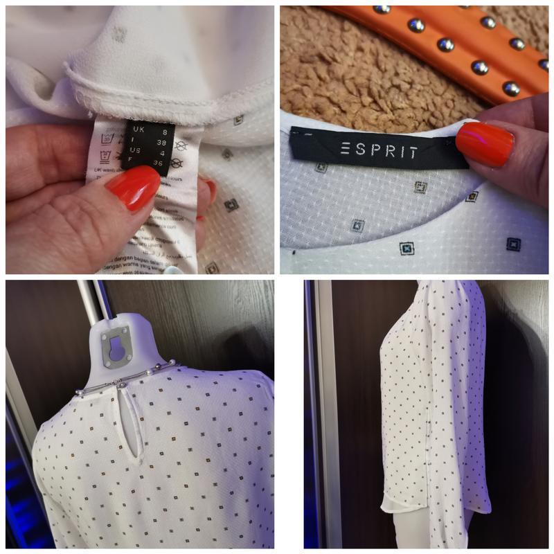 Белая блуза в стиле isabel marant с нежным принтом xs-s - Фото 8