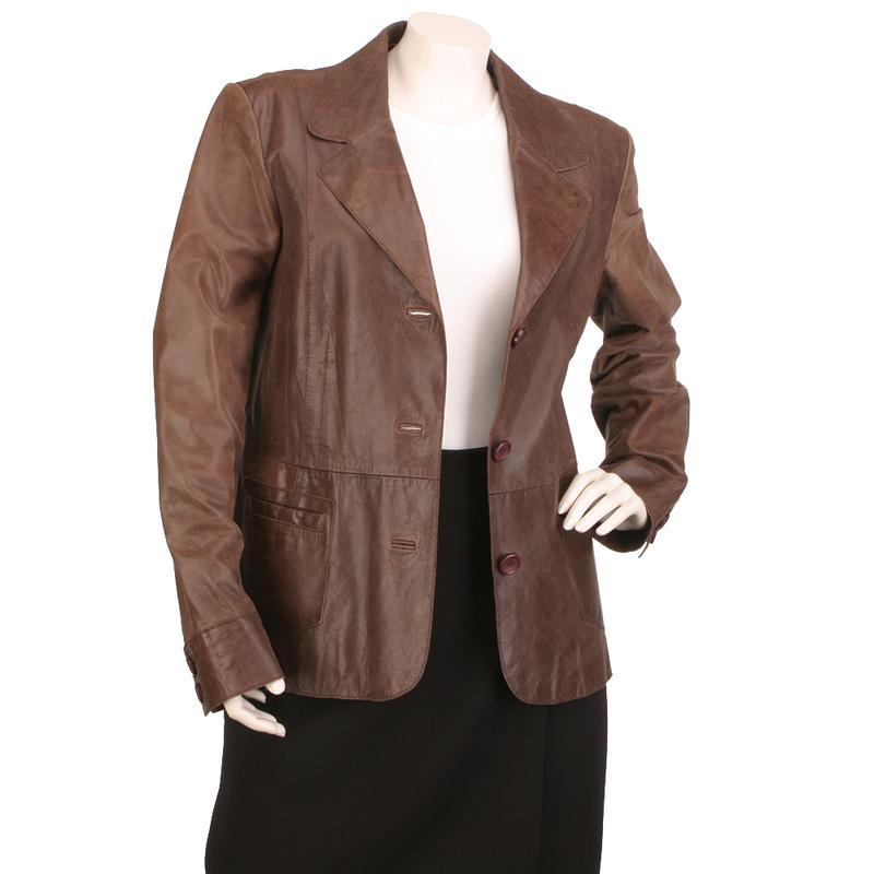 Laura Ashley кожаный пиджак 100% натуральная кожа стильный жакет - Фото 5