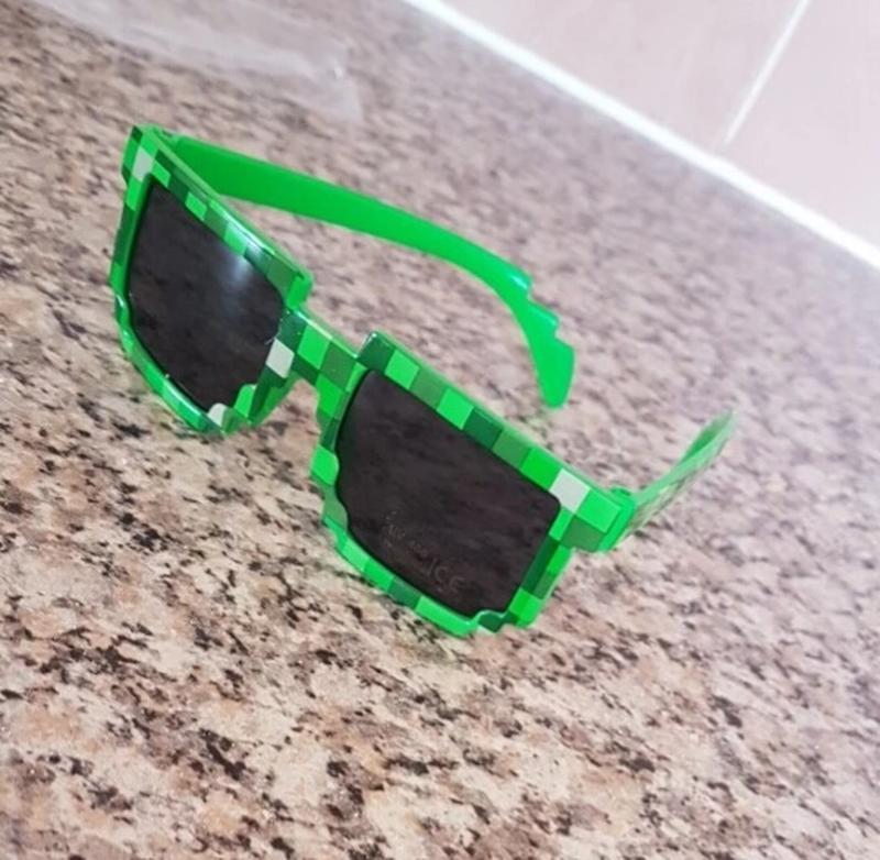 Зеленые ультрамодные очки майнкрафт для мальчиков