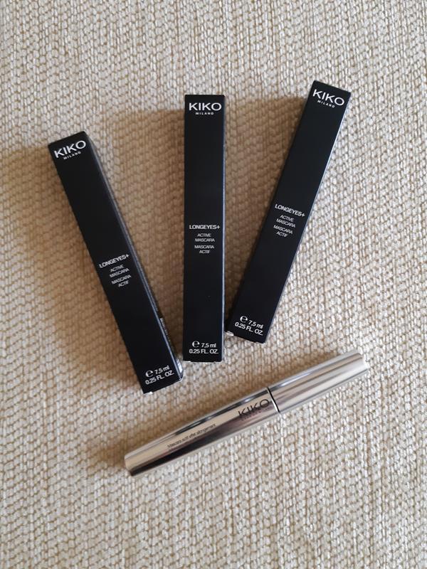 Тушь для ресниц kiko longeyes plus active mascara