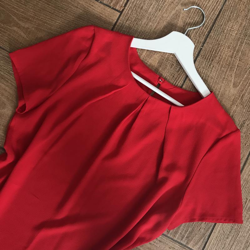 Блуза красного цвета - Фото 2