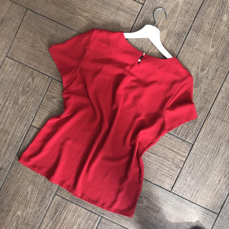 Блуза красного цвета - Фото 3