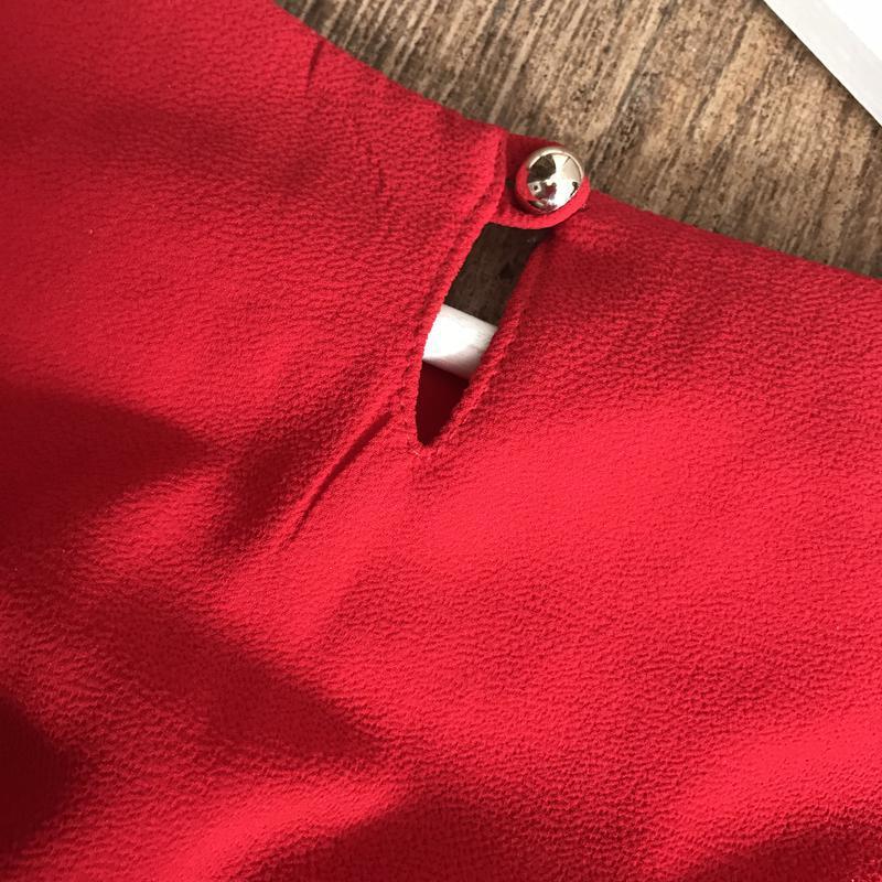Блуза красного цвета - Фото 4