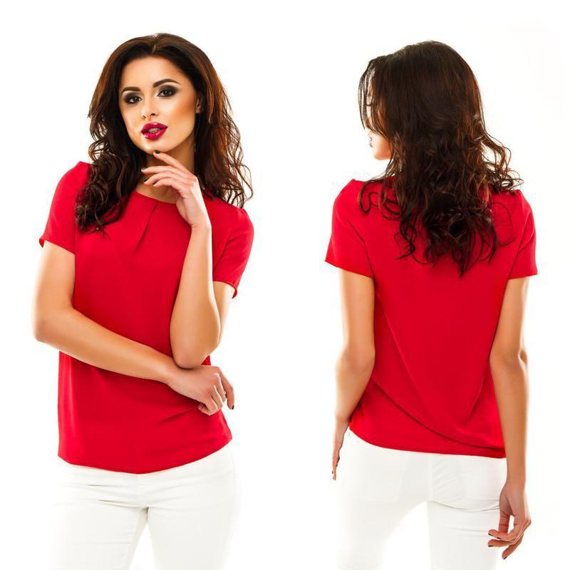Блуза красного цвета - Фото 5