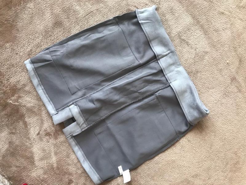 Замшеа юбка на шнуровке - Фото 2