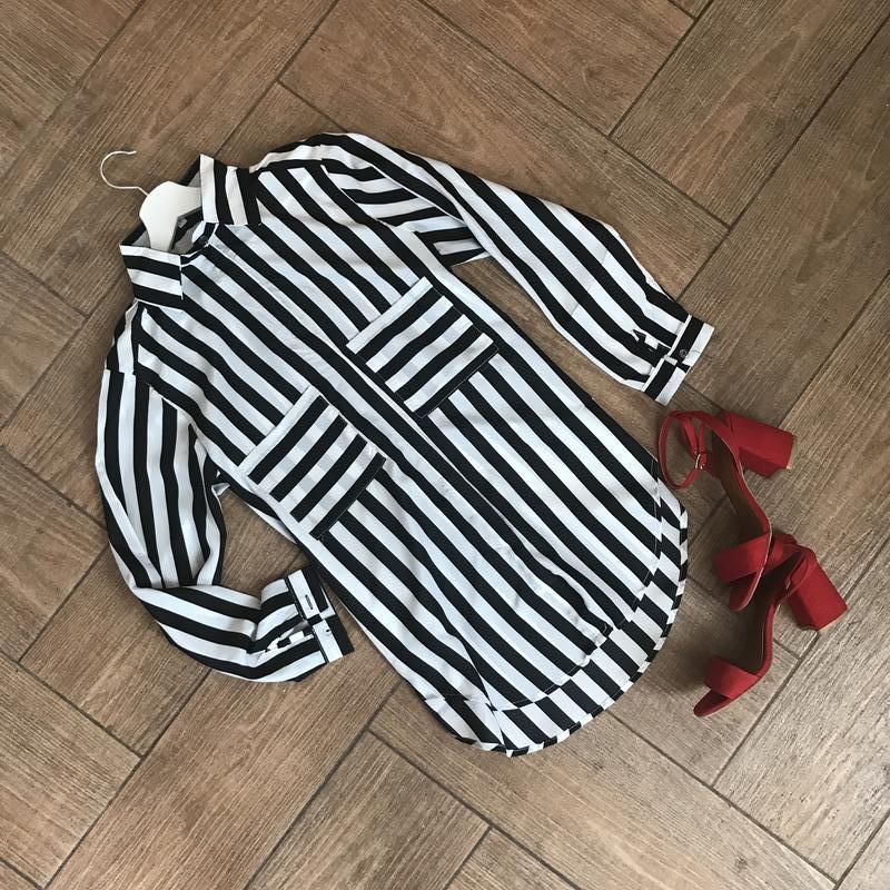 Рубашка в полоску/размер с,м,л!
