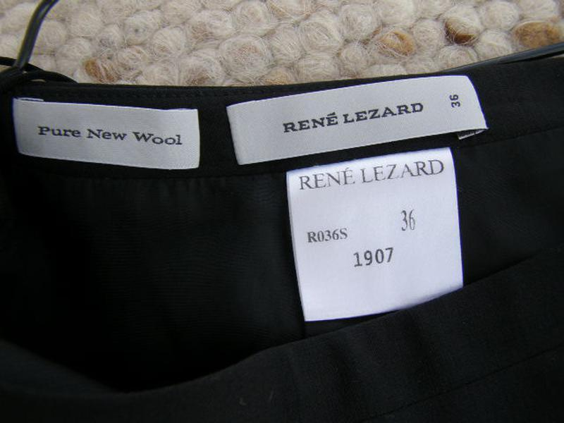 Rene lezard юбка 100% pure new wool шерсть 36-размер. оригинал