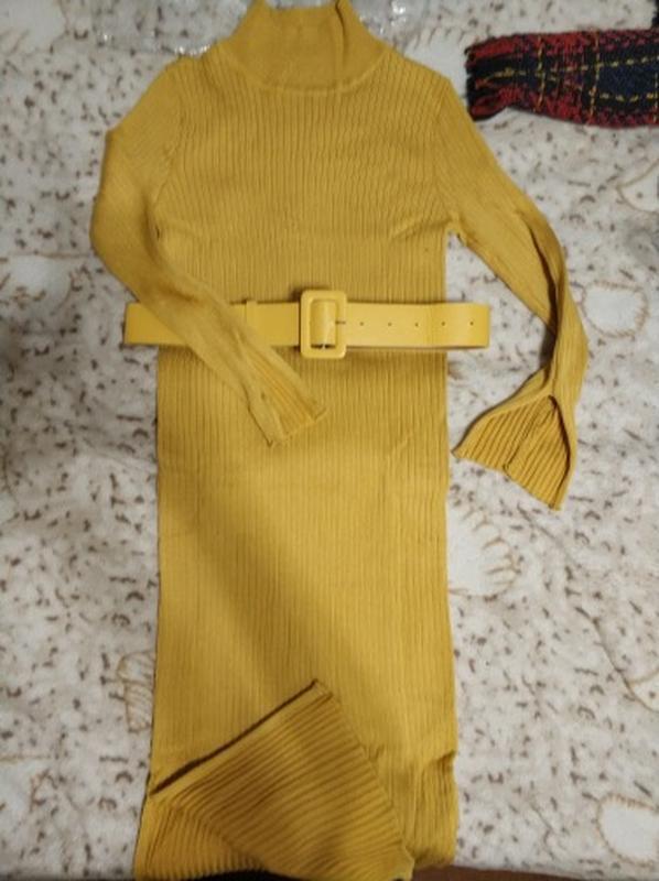 Платье с поясом в комплекте - Фото 2