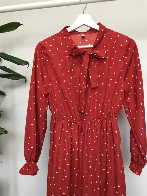 Очень крутое красное платье - Фото 2