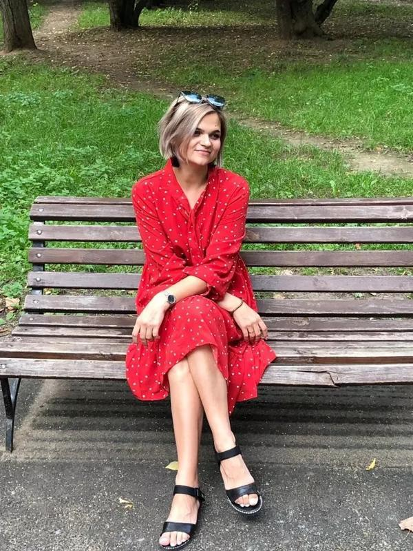 Очень крутое красное платье - Фото 8