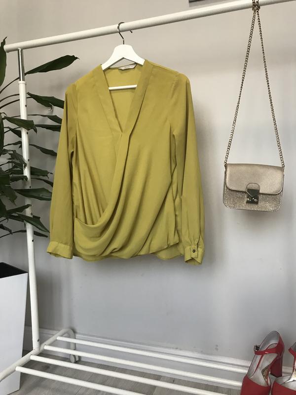 Крутая блуза/рубашка горчичного цвета