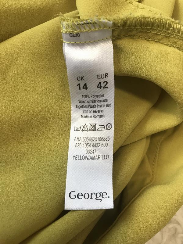 Крутая блуза/рубашка горчичного цвета - Фото 6