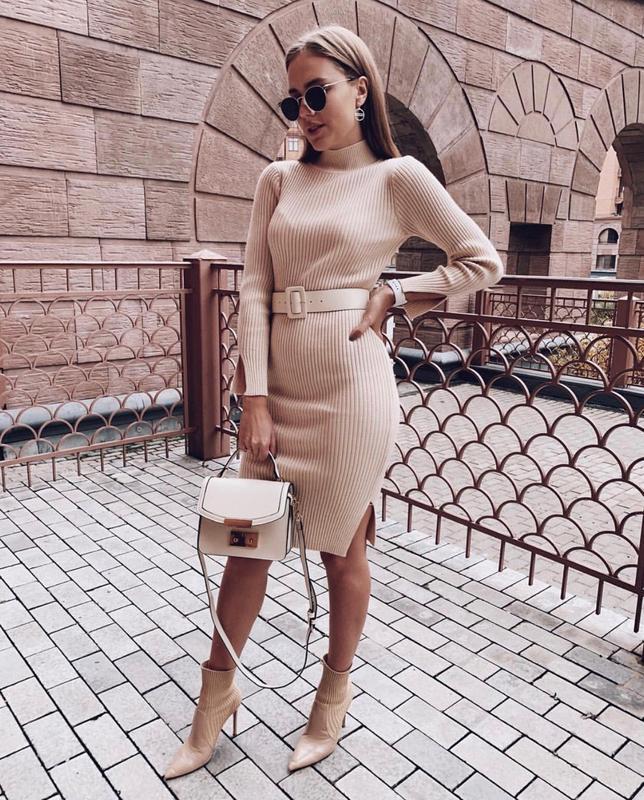 Платье с ремнем в комплекте - Фото 2