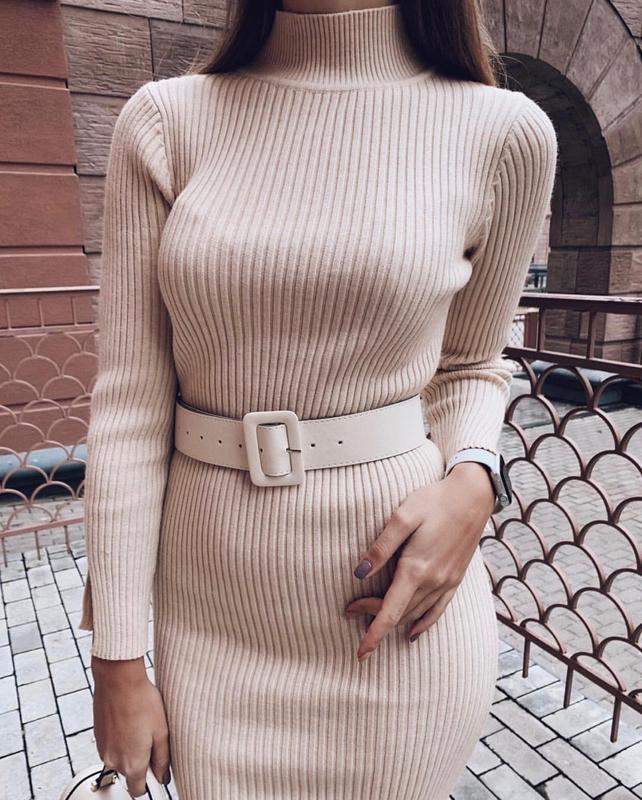 Платье с ремнем в комплекте - Фото 3