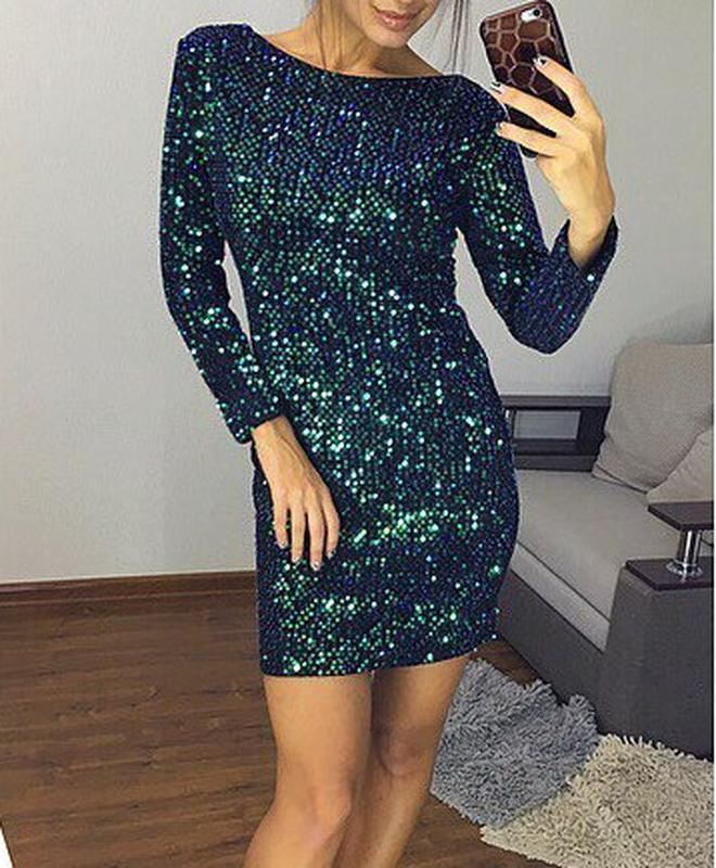 Шикарное платье с пайетками хамелеон!