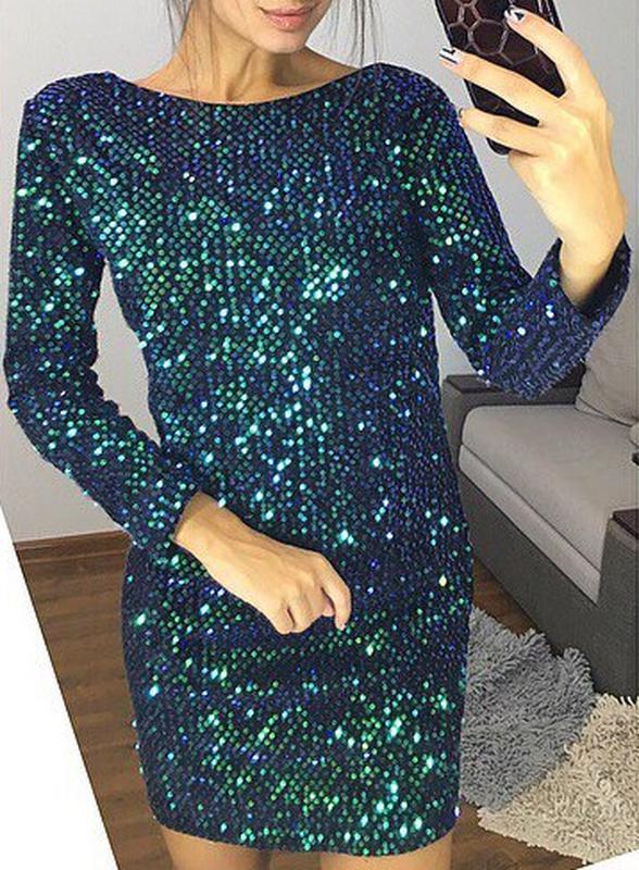 Шикарное платье с пайетками хамелеон! - Фото 3