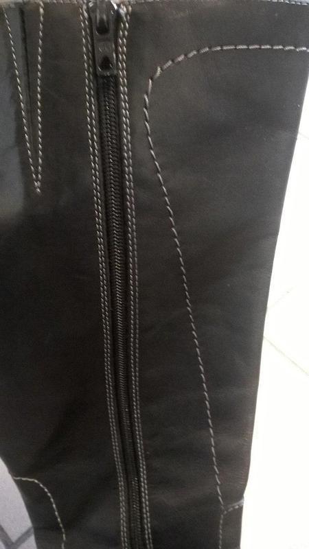 Демисезонные классические сапоги. 100% кожа!!! в подарок сумоч... - Фото 3