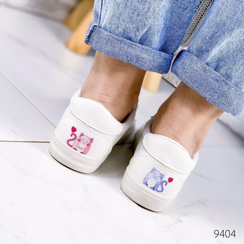 🔥стильные женские кеды мокасины кроссовки 🔥 - Фото 5