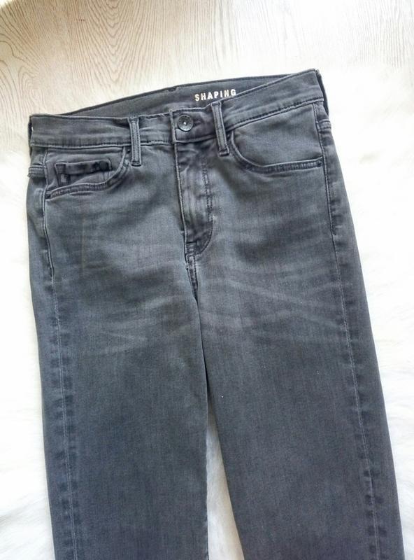 Серые джинсы скинни узкачи американки стрейч высокая талия пос... - Фото 3