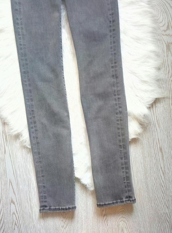 Серые джинсы скинни узкачи американки стрейч высокая талия пос... - Фото 4
