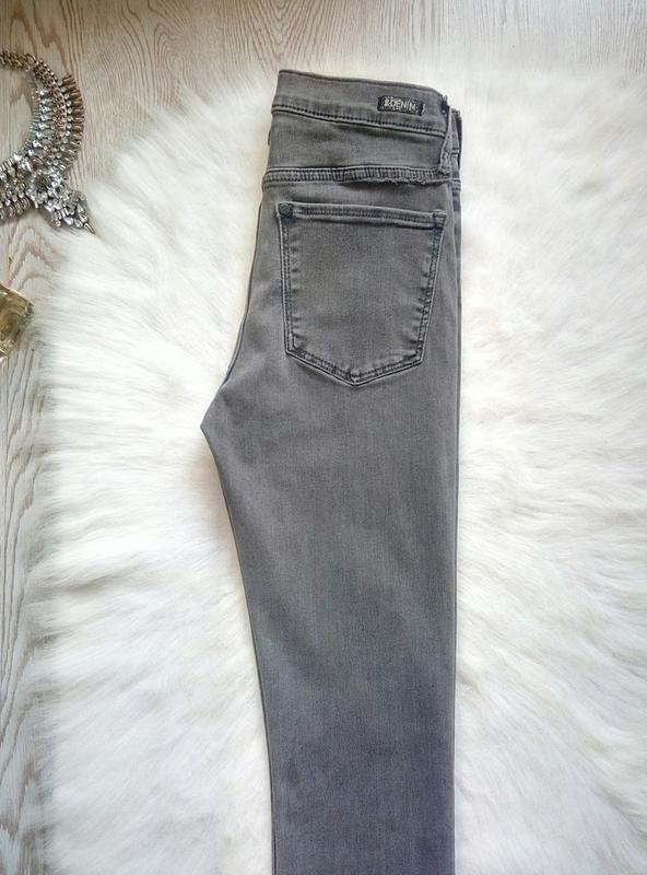 Серые джинсы скинни узкачи американки стрейч высокая талия пос... - Фото 5