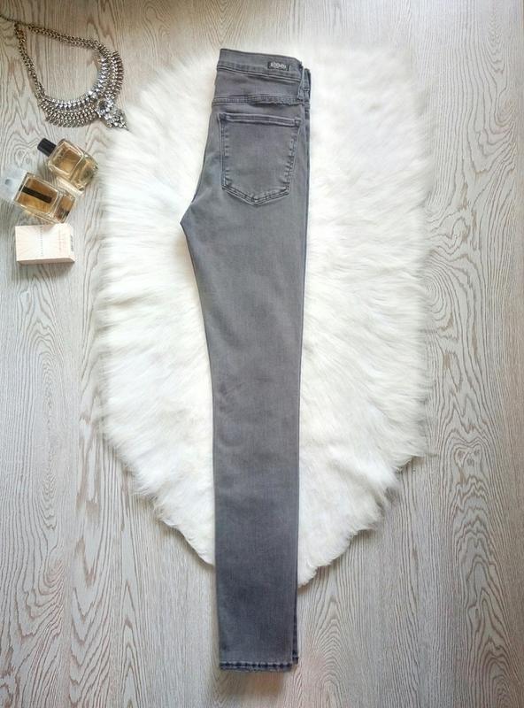 Серые джинсы скинни узкачи американки стрейч высокая талия пос... - Фото 6