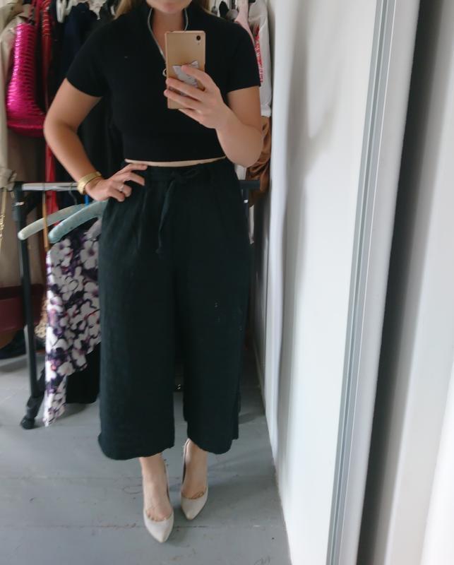 Актуальные летние легкие брюки кюлоты №259 - Фото 3