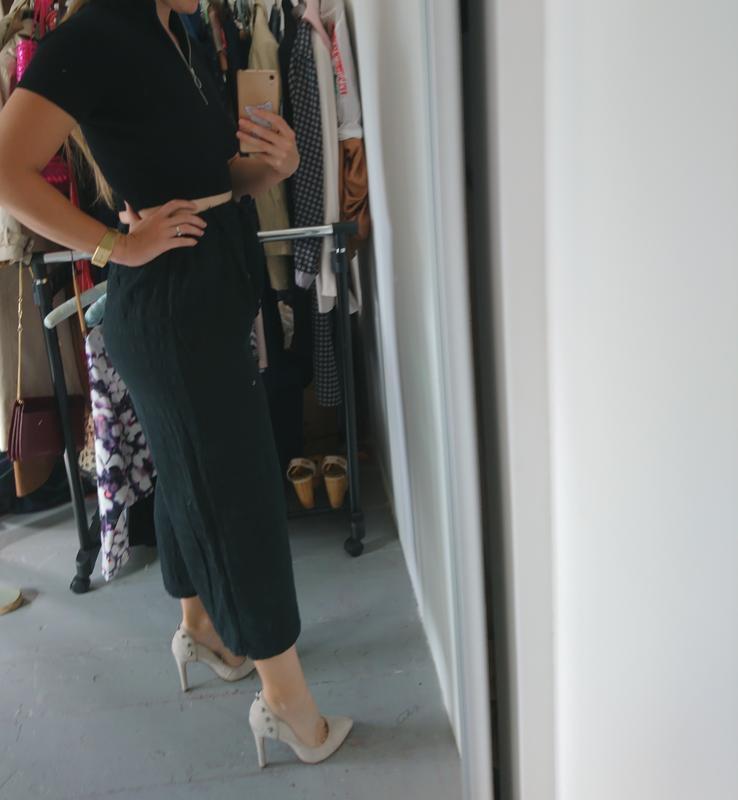 Актуальные летние легкие брюки кюлоты №259 - Фото 4