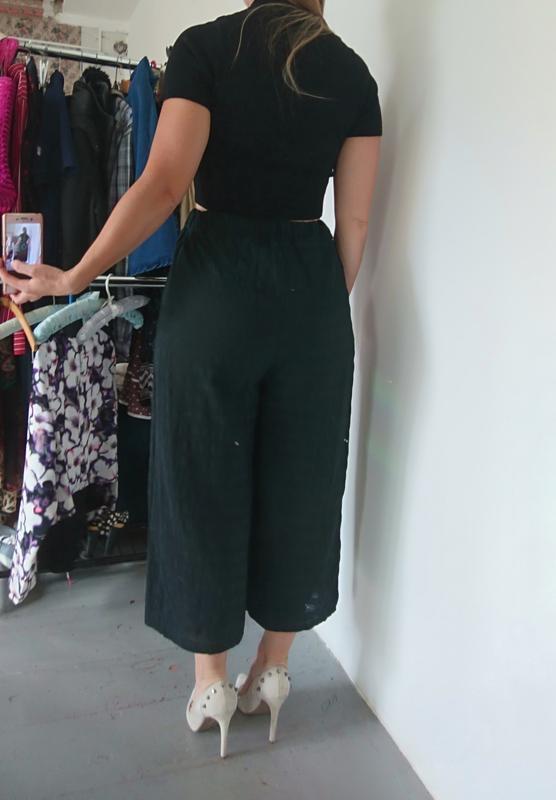 Актуальные летние легкие брюки кюлоты №259 - Фото 5