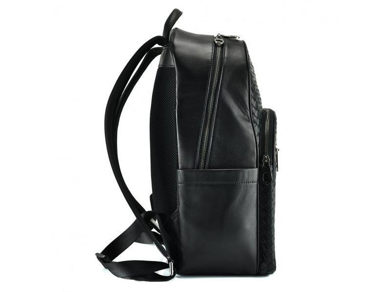 """Рюкзак кожаный мужской для ноутбука 13"""" 14"""" стильный модный ан... - Фото 3"""