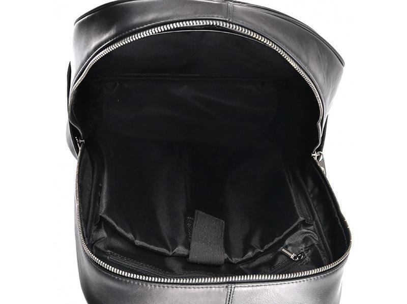 """Рюкзак кожаный мужской для ноутбука 13"""" 14"""" стильный модный ан... - Фото 4"""
