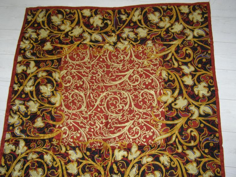 Marja kurki 100% silk шелковый платок большого размера. оригинал