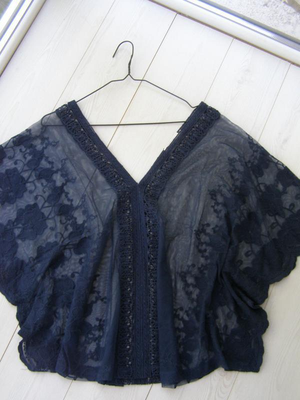 Cream lace top нарядная кружевная ажурная блуза прозрачная сет...