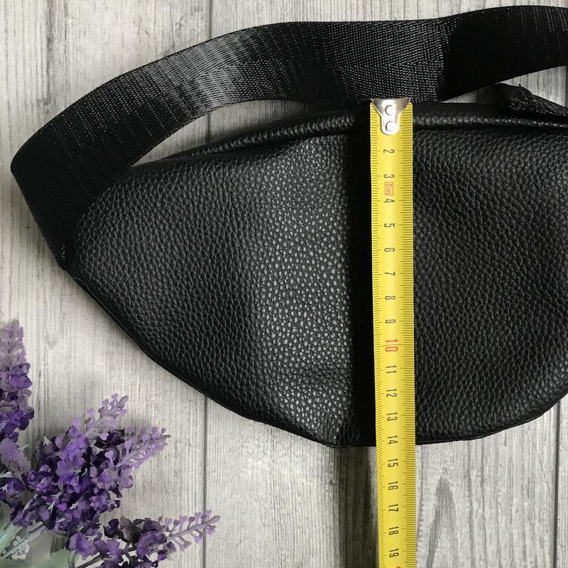 Черная поясная сумка из эко кожи 💥 бананка 💥 клатч на пояс 💥 - Фото 7