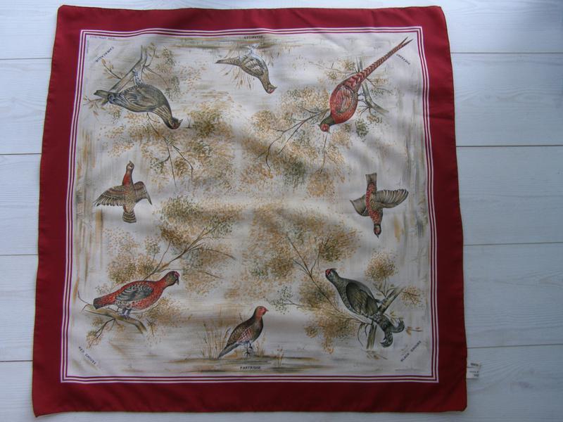 Capercaillie мужской платок. птицы. италия