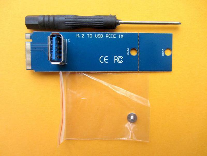 Проверенные M2 переходники для райзера с PCI-E на USB 3.0. Гар...