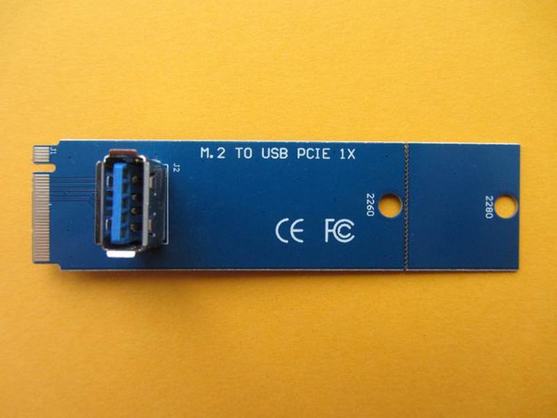 Проверенные M2 переходники для райзера с PCI-E на USB 3.0. Гар... - Фото 2