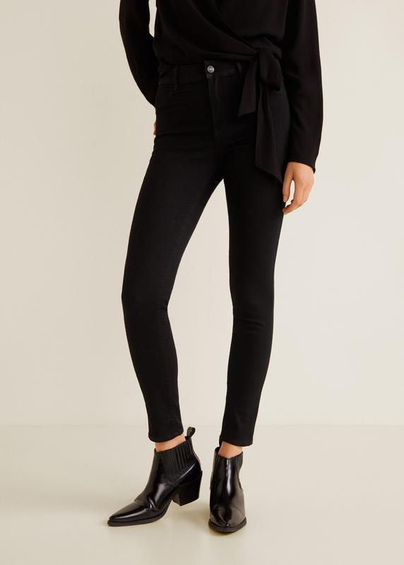 Модные джинсы с высокой посадкой размер 34 mango - Фото 2