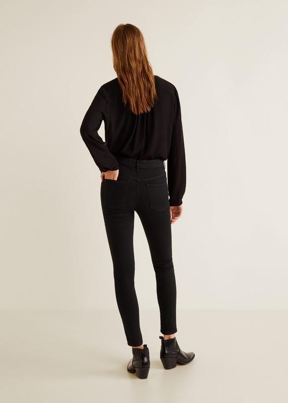 Модные джинсы с высокой посадкой размер 34 mango - Фото 3