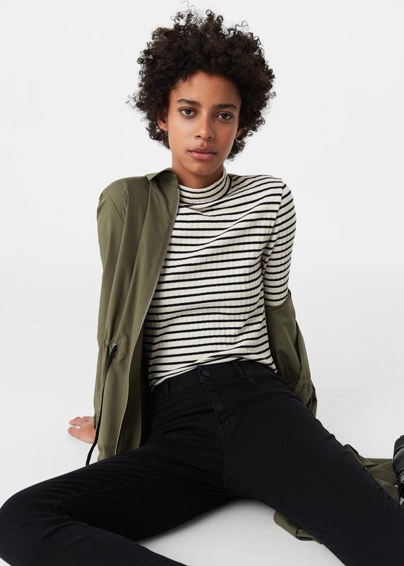 Модные джинсы с высокой посадкой размер 34 mango - Фото 4