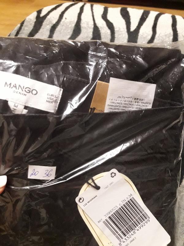 Модные джинсы с высокой посадкой размер 34 mango - Фото 7