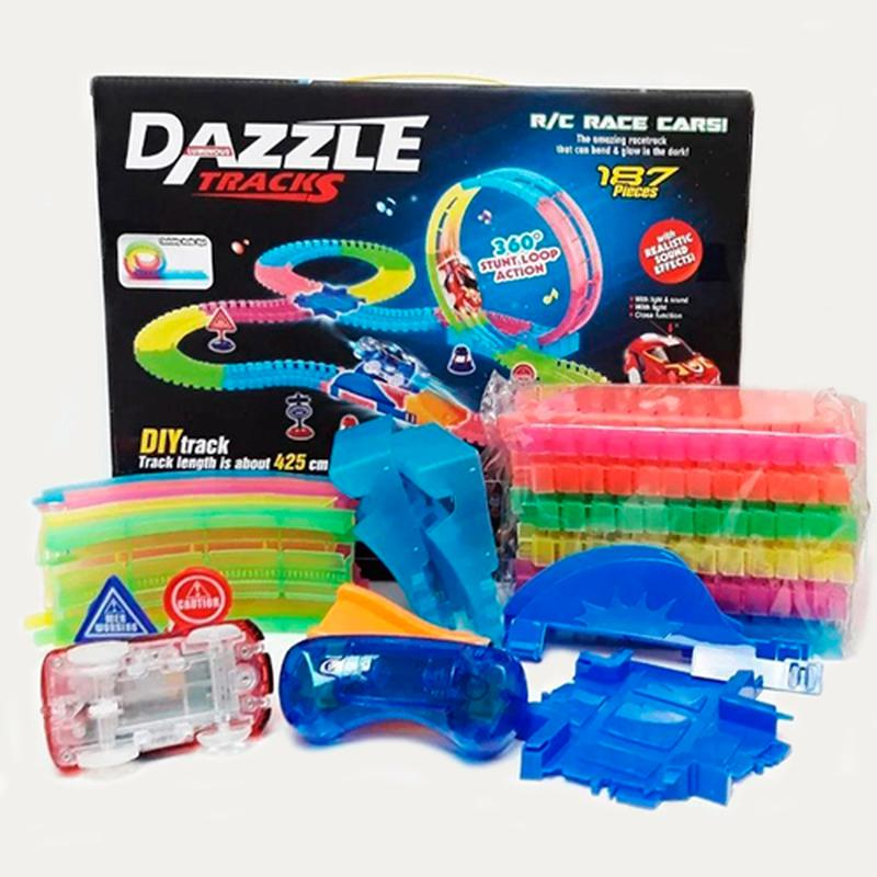 Конструктор Dazzle Tracks 187 деталей 425 см на РУ - Фото 2
