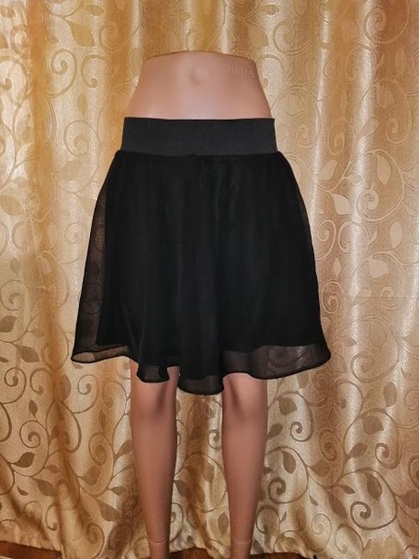 🔥🔥🔥стильная короткая легкая черная женская шифоновая юбка h&m🔥🔥🔥 - Фото 4