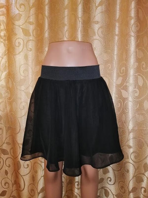 🔥🔥🔥стильная короткая легкая черная женская шифоновая юбка h&m🔥🔥🔥 - Фото 5