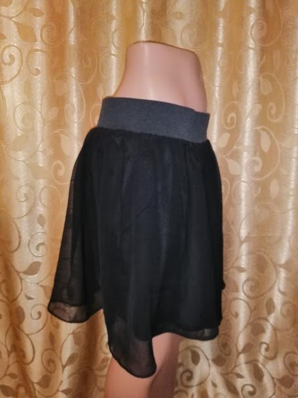 🔥🔥🔥стильная короткая легкая черная женская шифоновая юбка h&m🔥🔥🔥 - Фото 6