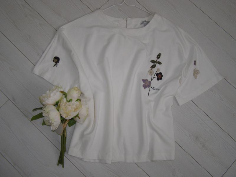 H&m блуза с вышивкой xl-размер. турция