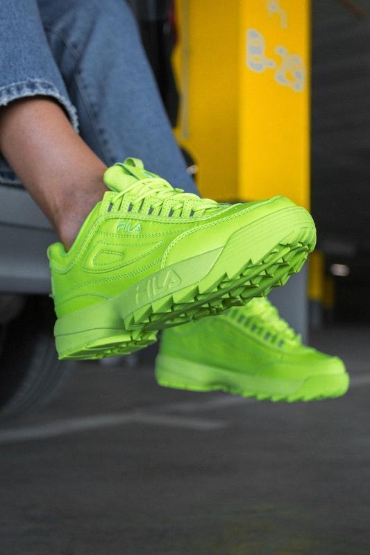 F!la disruptor 2 yellow neon шикарные женские кроссовки /весна... - Фото 7