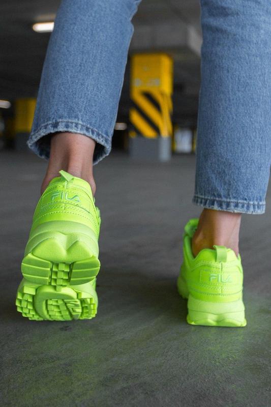 F!la disruptor 2 yellow neon шикарные женские кроссовки /весна... - Фото 8