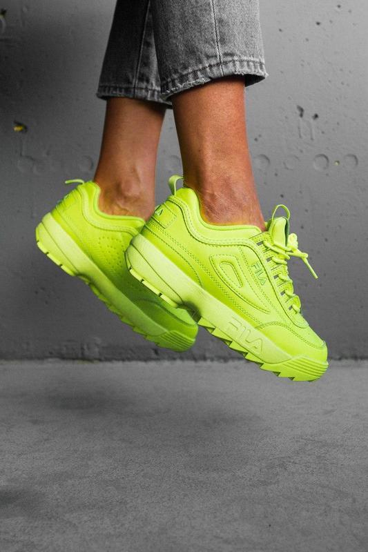 F!la disruptor 2 yellow neon шикарные женские кроссовки /весна... - Фото 9